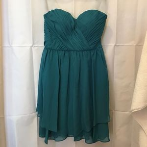 Adrianna Papell Dresses - Adrianna Papell Teal Strapless Dress Jr 7/8  NWT